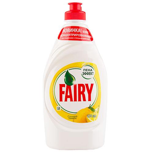 Купить Средство для мытья посуды FAIRY Сочный лимон 450 мл, РОССИЯ/ RUSSIA