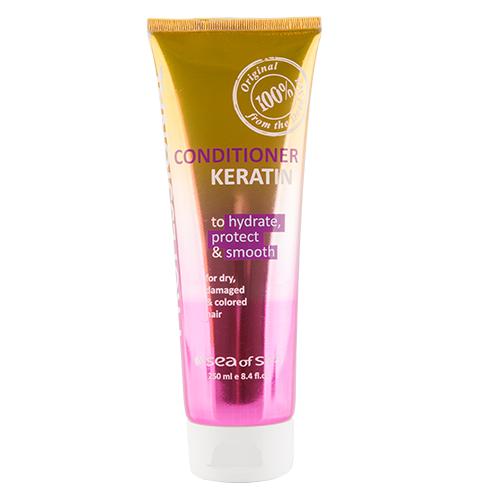 Купить Кондиционер для волос SEA OF SPA PROFESSIONAL с кератином для сухих, поврежденных и окрашенных волос 250 мл, ИЗРАИЛЬ/ ISRAEL