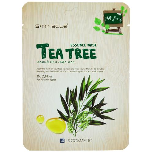 Купить Маска для лица S+MIRACLE с экстрактом чайного дерева 25 г, РЕСПУБЛИКА КОРЕЯ/ REPUBLIC OF KOREA
