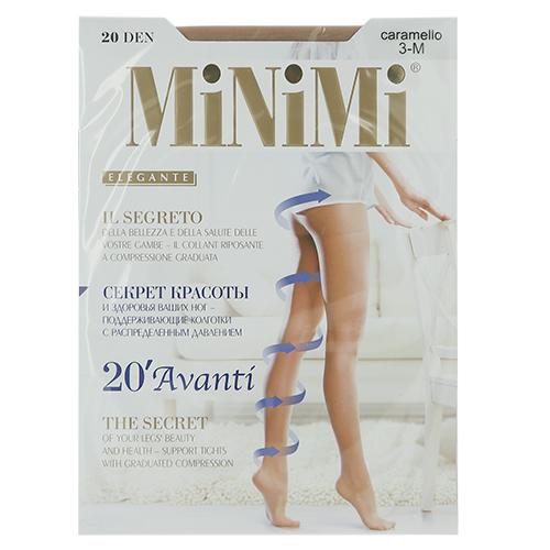 Колготки женские `MINIMI` AVANTI 20 den (Caramello) р-р 3Колготки<br>Тонкие эластичные поддерживающие колготки с распределенным давлением по ноге, гигиеничной ластовицей, плоским швом и невидимым усиленным мыском. Формованная ступня.<br>