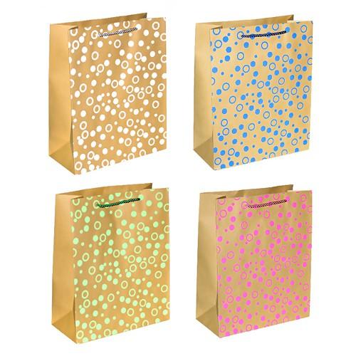Сумка бумажная `GRANDGIFT` подарочная в ассортименте (25,5x31x12,5 см)Подарочная упаковка<br>Сумки Стоун имеют глянцевую или матовую ламинацию, их дизайны разнообразны и выдержаны в рамках модных тенденций.<br>