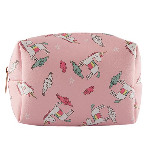 Косметичка квадратная  с принтом `LADY PINK` UNICORN розоваяКосметички<br>Косметичка Lady Pink - стильное и удобное решение для хранения косметики. Большой выбор косметичек разных форм и размеров, а также ярких дизайнов позволит легко выбрать ту, которая подходит именно тебе.<br>