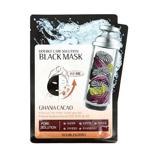 Маска для лица DOUBLE & ZERO BLACK MASK с бамбуковым углем сужающая поры 30 г фото