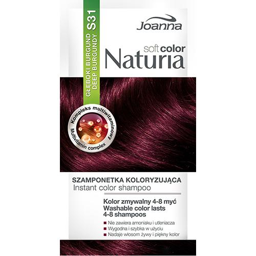 Оттеночный шампунь для волос JOANNA NATURIA SOFT тон 31 Глубокий бургунд