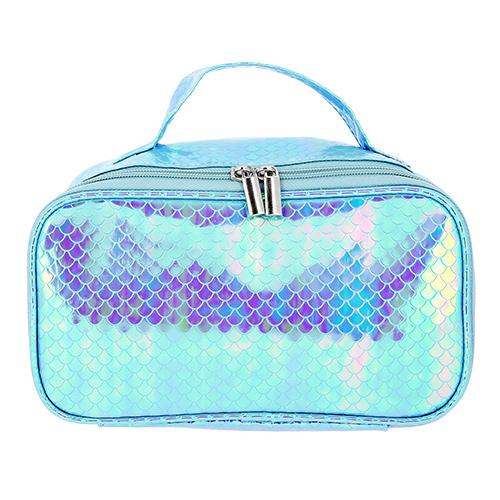 Купить Косметичка-кейс LADY PINK MERMAID перламутровая голубая, КИТАЙ/ CHINA