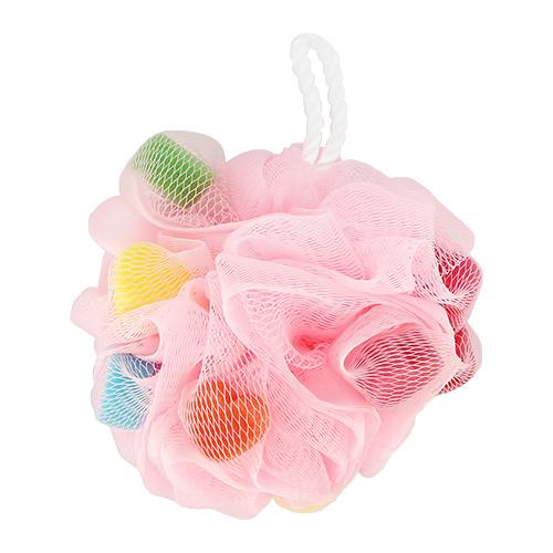 Мочалка-шар для тела `DE.CO.` синтетическая (hearts)