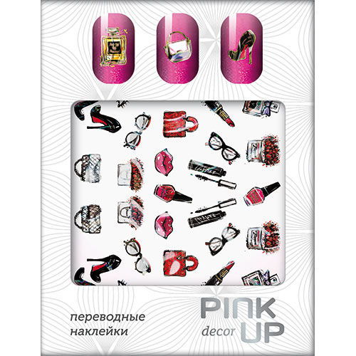 Наклейки для ногтей переводные PINK UP NAIL DESIGN тон 526Дизайн ногтей<br>Pink Up Nail desing – наклейки для ногтей. Твой незаменимый помощник для создания салонного дизайна ногтей в домашних условиях. Дизайн ногтей который всегда получается!<br>