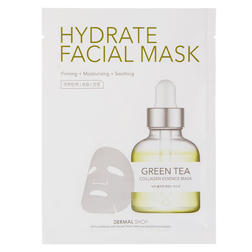 Маска для лица DERMAL HYDRATE с экстрактом зеленого чая и коллагеном 25 гМаски<br>Маска с экстрактом зеленого чая сохраняет молодость и красоту кожи, улучшает цвет лица и замедляет процесс старения. Экстракт зеленого чая является сильнейшим природным антиоксидантом. Он спасает генный аппарат клетки от разрушения, улучшает кислородный водно-солевой обмен, укрепляет капилляры и кровеносные сосуды, препятствуя проявлению купороза.<br>Маска смягчает, питает и увлажняет кожу, делая ее гладкой и упругой, снимает раздражение, стимулирует регенерацию, устраняет морщины и омолаживает кожу.<br>