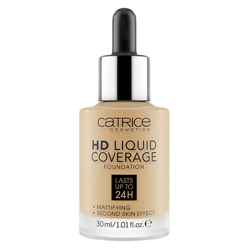 Основа тональная для лица `CATRICE` HD LIQUID COVERAGE тон 034 Medium beige