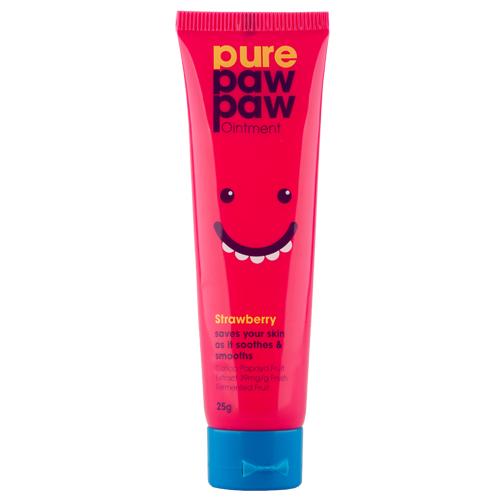 Бальзам для губ `PURE PAW PAW` с ароматом клубники 25 гГубы<br>Продукт используется в косметических целях для увлажнения и питания кожи губ, лица и тела, а также для заживления поврежденных участков кожи.<br>