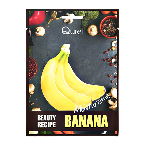 Маска для лица QURET BEAUTY RECIPE с экстрактом банана увлажняющая 25 г