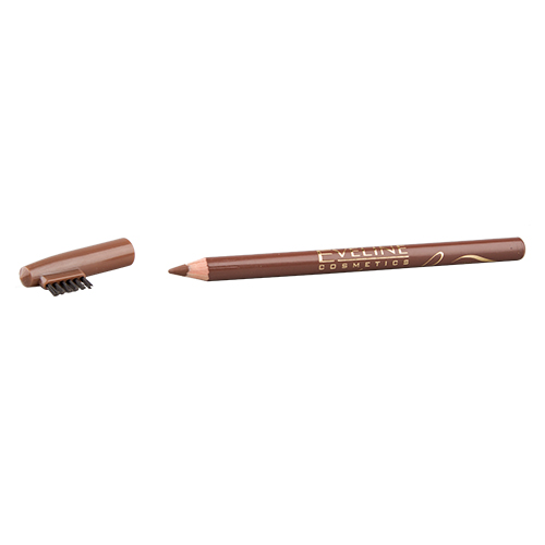 Карандаш для бровей `EVELINE` PROFESSIONAL STYLISTКарандаш для бровей<br>Eyebrow pencils color BLACK Карандаши для бровей цвет светло-коричневый<br>
