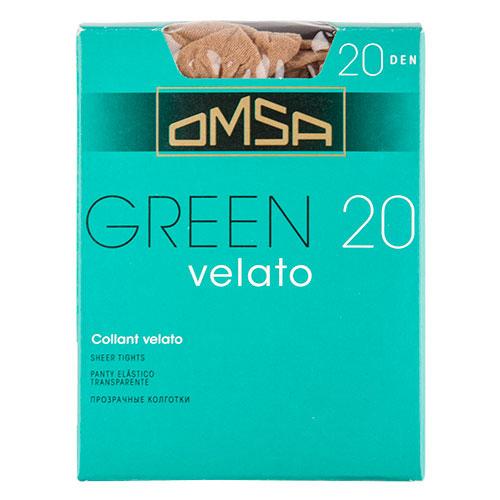 Колготки женские в коробочке OMSA GREEN 20 den (caramello) р-р 4Колготки<br>Тонкие полиамидные колготки 20 DEN с  комфортными швами.<br>