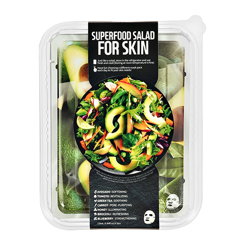 Купить Набор масок для лица FARMSKIN SUPERFOOD SALAD FOR SKIN с экстрактом авокадо, томата, зеленого чая, моркови, свеклы, меда, брокколи, черники 7 шт, РЕСПУБЛИКА КОРЕЯ/ REPUBLIC OF KOREA