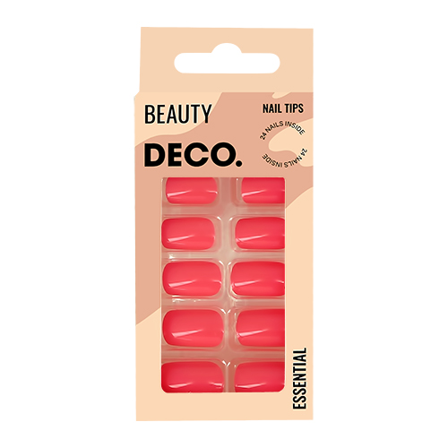 Набор накладных ногтей DECO. ESSENTIAL pinky 24 шт + клеевые стикеры 24 шт