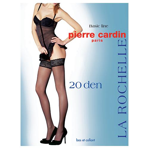 Чулки женские PIERRE CARDIN CITY LINE LA ROCHELLE 20 den Visone р-р 4Чулки<br>Чулки с кружевной резинкой 7 см и двойной силиконовой поддержкой. Чулки 20 дэн<br>