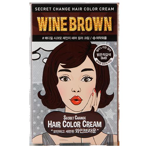 Купить Крем-краска для волос MEDIHEAL SECRET HAIR Wine brown, РЕСПУБЛИКА КОРЕЯ/ REPUBLIC OF KOREA