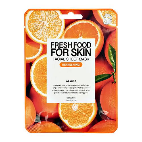 Маска для лица FRESH FOOD с экстрактом апельсина освежающая 25 мл