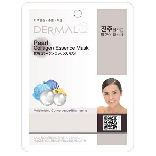 Маска для лица `DERMAL` Жемчуг и коллагенМаски<br>Коллагеновая маска для лица на тканевой основе Dermal Pearl Collagen Essence Mask c жемчужной пудрой улучшает обмен веществ, стимулирует микроциркуляцию, повышает эластичность кожного рельефа. Маска оказывает увлажняющий и регенерирующий эффект, качественно омолаживая кожный покров. Будучи натуральным остветлителем, маска устраняет пигментные пятна, улучшая цвет лица. Содержит жемчужный порошок, который является эффективным для поддержания кожи свежей и увлажненной.<br>