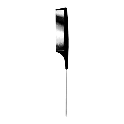 Купить Расческа-гребень для волос LADY PINK BASIC PROFESSIONAL карбоновая с металлической ручкой 22 см, КИТАЙ/ CHINA
