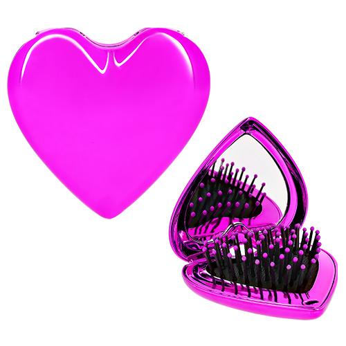 Купить Расческа с зеркалом LADY PINK серебряная, КИТАЙ/ CHINA