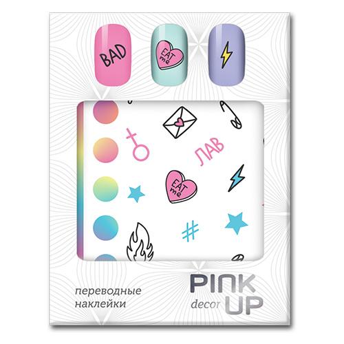 Наклейки для ногтей PINK UP DECOR белая упаковка тон 622