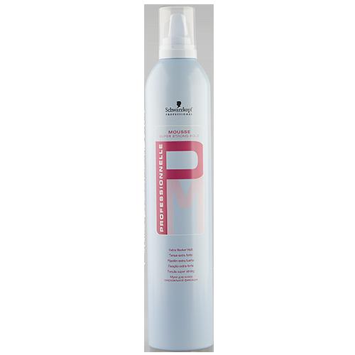 Мусс для укладки волос `SCHWARZKOPF PROFESSIONAL` `PROFESSIONNELLE` Сверхсильной фиксации 500 млУкладка<br>Мусс для волос сверхсильной фиксации. Идеально подходит для использования в салонах парикмахерских. Обеспечивает длительную фиксацию волос, придает им натуральный блеск. не склеивает волосы, облегчает их расчесывание.<br>