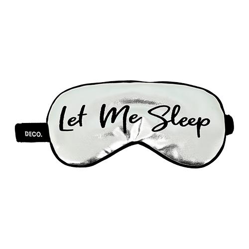Маска для сна и путешествий DECO. let me sleep
