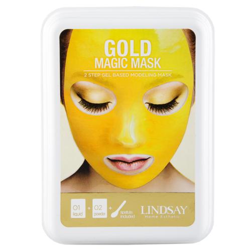 Маска для лица LINDSAY MAGIC MASK альгинатная моделирующая с коллоидным золотом 65 г + 65 г.