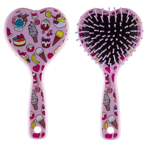 Расческа для волос MISS PINKY HEART массажная розовая