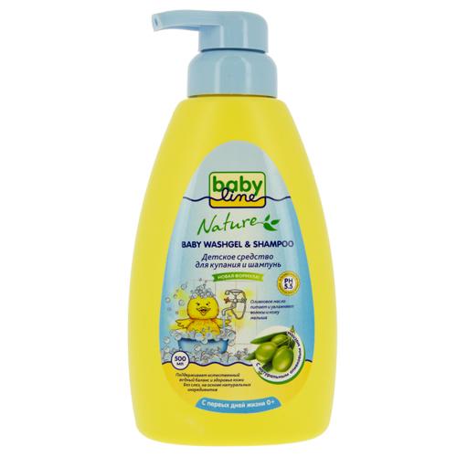 Купить Средство для купания и шампунь детский BABYLINE с оливковым маслом 500 мл, ИЗРАИЛЬ/ ISRAEL