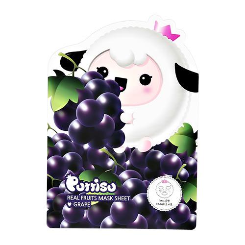 Маска для лица PUTTISU детская виноград 18 мл