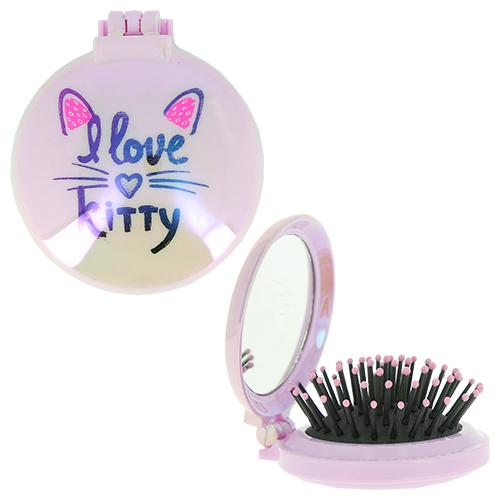 Купить Расческа для волос LADY PINK FUN с зеркалом розовая, КИТАЙ/ CHINA