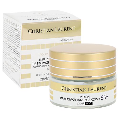 Купить Дневной и ночной крем для лица CHRISTIAN LAURENT против морщин 55+ 50 мл, ПОЛЬША/ POLAND