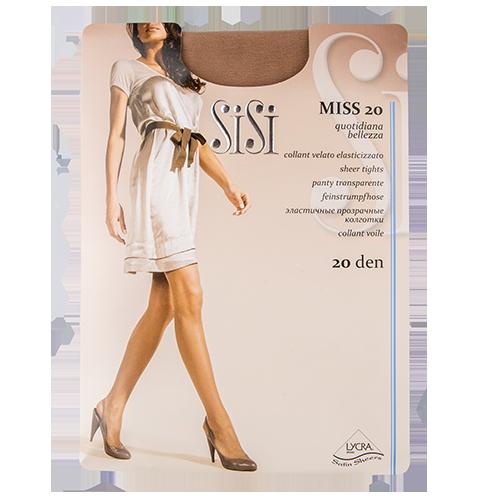 Колготки женские `SISI` MISS 20 den (Miele) р-р 2Колготки<br>Прозрачные шелковистые колготки с шортиками и комфортными швами.<br>