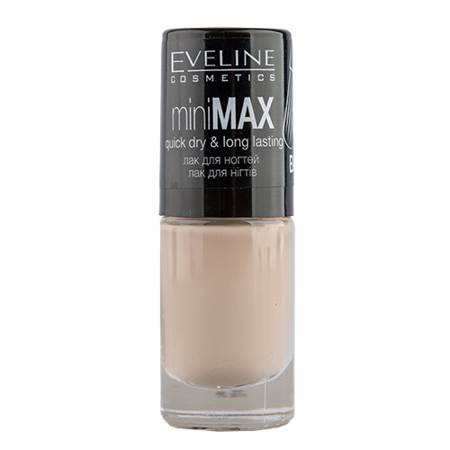 Лак для ногтей `EVELINE` MINI MAX тон 48 5 млЛаки<br>Лак для ногтей Mini Max PERFECT BRUSH miniMAX quick dry &amp; long lasting 048<br>