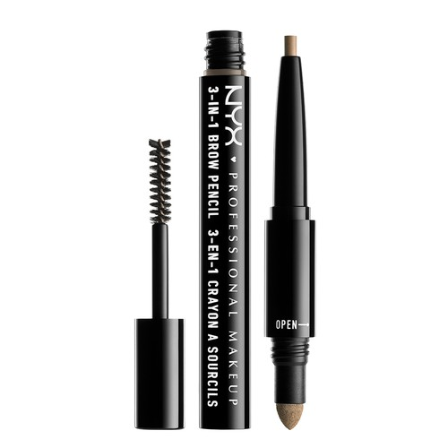 Средство для бровей `NYX PROFESSIONAL MAKEUP` 3-IN-1 BROW PENCIL 3 в 1 тон 01 blonde
