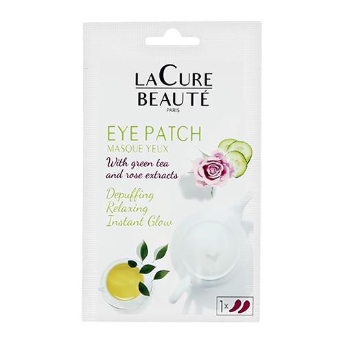 Патчи для глаз `LA CURE BEAUTE` гидрогелевые с экстрактом розы и зеленого чая 2 шт
