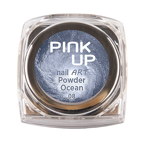 Втирка для ногтей `PINK UP` NAIL ART тон Ocean 3 грДизайн ногтей<br>Зеркальная втирка для ногтей Pink UP, 3гр Предназначена для втирания в верхнее покрытие без липкого слоя поверх лака, гель-лака или геля.<br>