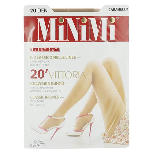Колготки женские MINIMI VITTORIA 20 den Caramello р-р 2Чулки<br>Тонкие классические эластичные колготки  с усиленными шортиками, комфортным швом и укрепленным мыском.<br>