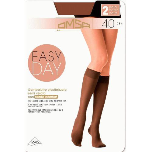Гольфы женские `OMSA` `EASY DAY` 40 den р-р S/M 2 пары 3/4 (Caramello)Гольфы и носки<br>Матовые эластичные гольфы 40 DEN с комфортной резинкой и невидимым мыском. (2 пары в упаковке)<br>