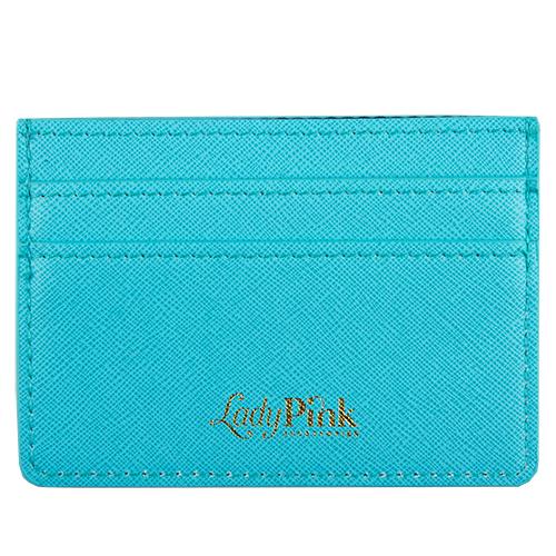 Кардхолдер `LADY PINK` BASIC голубой саффьяноПрочее<br>Со временем женские аксессуары становятся привлекательнее и удобнее - огромные кошельки сменяются стильными и миниатюрными держателями для карт. Компактные и оригинальные, они вполне могут стать незаменимым спутником в повседневной жизни. Картхолдеры Lady Pink отличаются индивидуальным дизайном  и имеют несколько отделений, в таких моделях карточки точно не порвутся и не деформируются, а главное преимущество -  это мгновенный доступ к картам, без которых невозможно обойтись и  ни дня.<br>
