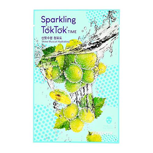 Маска для лица PERIPERA SPARKLING TOKTOK TIME с экстрактом винограда увлажняющая 18 г фото