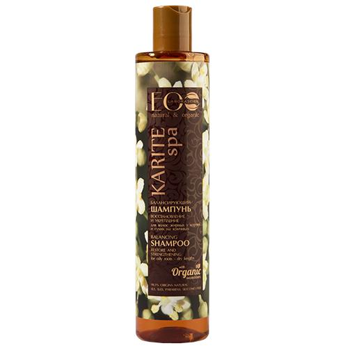 Купить Шампунь для волос EO LABORATORIE KARITE SPA Восстановление и укрепление балансирующий 350 мл, РОССИЯ/ RUSSIA