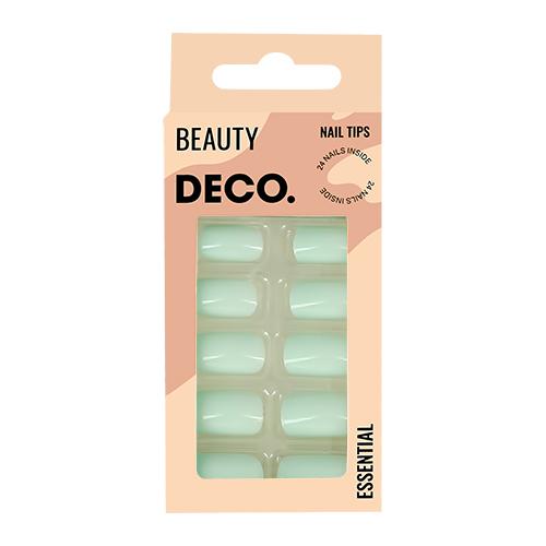 Набор накладных ногтей DECO. ESSENTIAL olive 24 шт + клеевые стикеры 24 шт