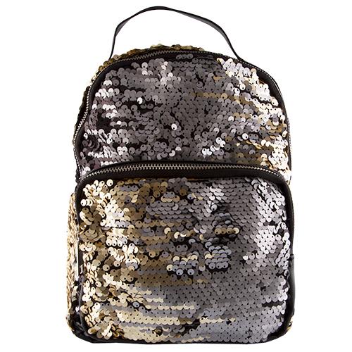 Рюкзак `LADY PINK` SHINE ON с пайетками черно-золотойСумки<br>Рюкзаки давно перешли из разряда спортивных аксессуаров в разряд модных и стильных вещей в современном женском гардеробе.<br>Они являются отличной альтернативой дамским сумочкам, которые не так удобны и комфортны в каждодневном обиходе.  Стильные рюкзаки Lady Pink отлично дополнят любой Ваш образ – не только спортивный, но и в стиле casual, casual smart, и даже в деловом стиле.<br>