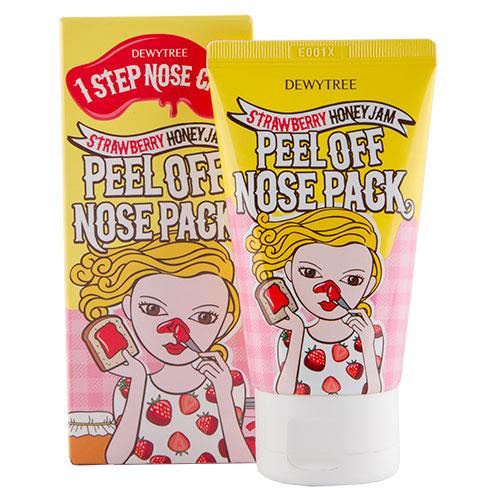 Маска-пленка для носа `DEWYTREE` с ароматом клубнично-медового джема 70 млМаски<br>Маска-пленка отлично сужает поры и глубоко очищает кожу благодаря эффективной комбинации двух ингредиентов –экстракту клубники и углю. Экстракт клубники обладает идеальным подсушивающим и отшелушивающим эффектом, что помогает легко уничтожать омертвевшие клетки кожи, борется с угревой сыпью, осветляет и выравнивает тон. Активированный бамбуковый уголь способствует сужению пор, прекрасно поглощает черные точки, удерживает влагу в глубоких слоях кожи, придает коже мягкость и свежий вид.<br>