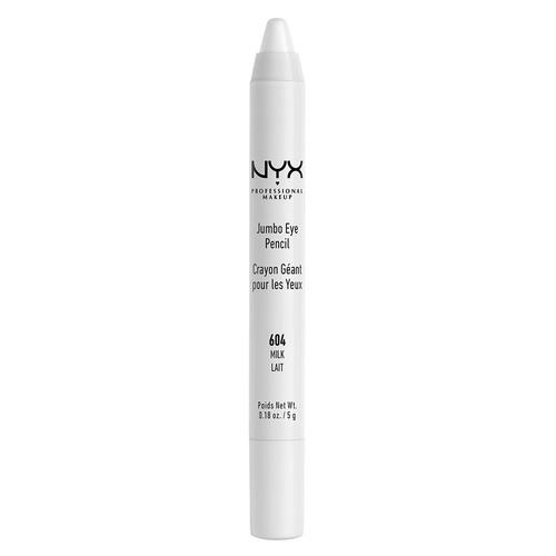 Карандаш для глаз `NYX PROFESSIONAL MAKEUP` JUMBO тон 604 MilkКарандаши<br>Универсальный продукт, который работает как подводка, тени, а также его можно смело наносить в качестве подложки под любые тени. Благодаря сочетанию воска, масел и пигментов карандаш легко наносится, ровно ложится и дает насыщенный цвет.<br>