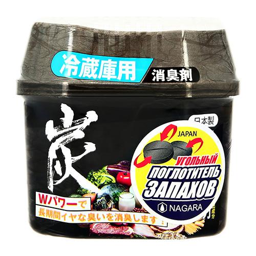 Поглотитель запаха NAGARA для холодильников древесный уголь 160 г.