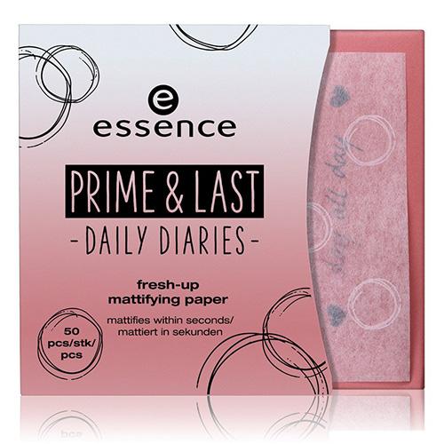 Матирующие салфетки для лица ESSENCE PRIME & LAST